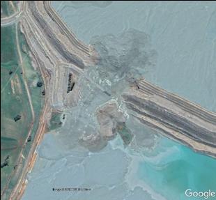Cadia Customer Case Sattelite Picture Of Dam Collapse